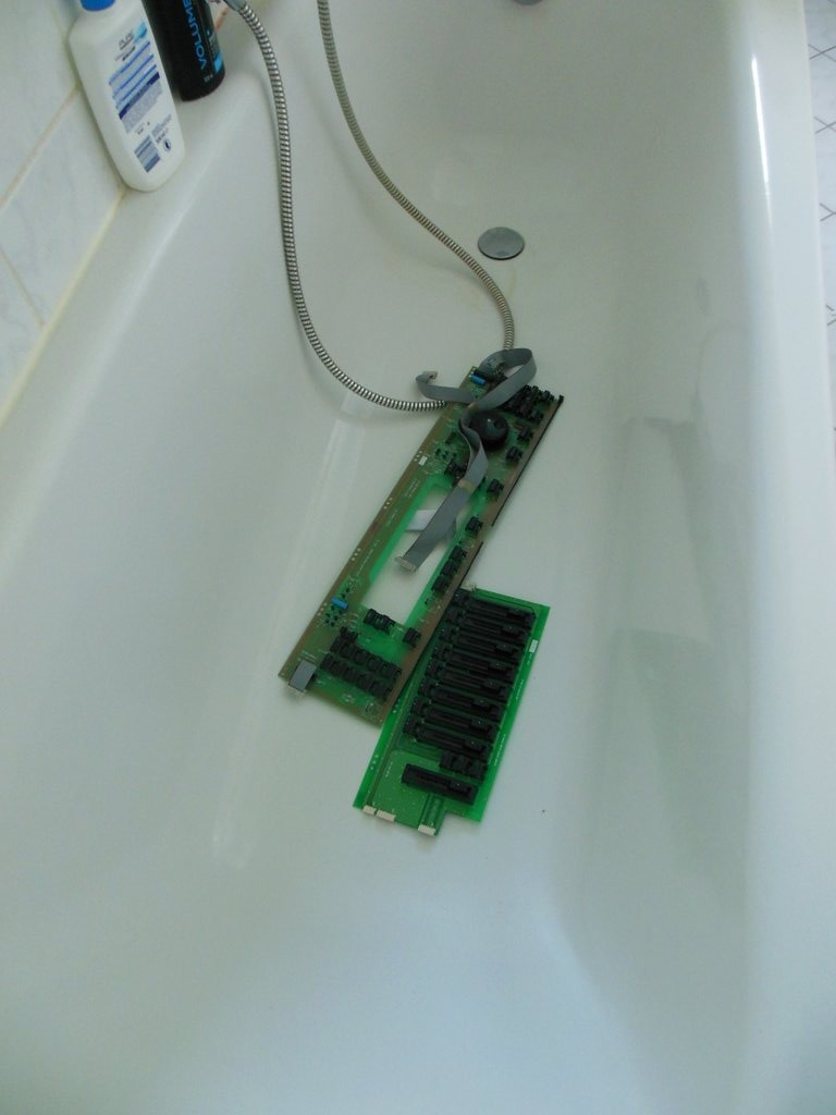 showered input panel
